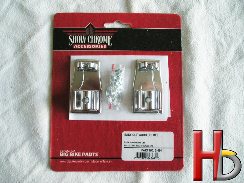 chrome clip holders Goldwing