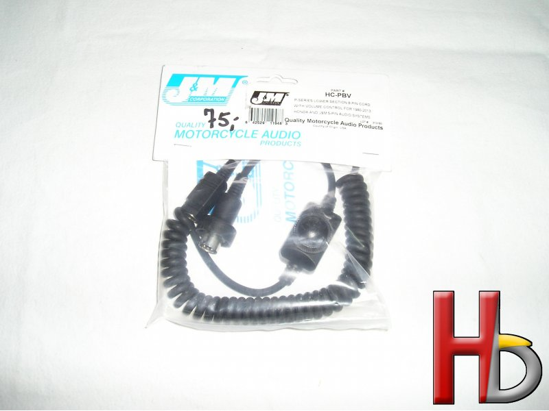 J&M lower cord with volume control HC-PBV