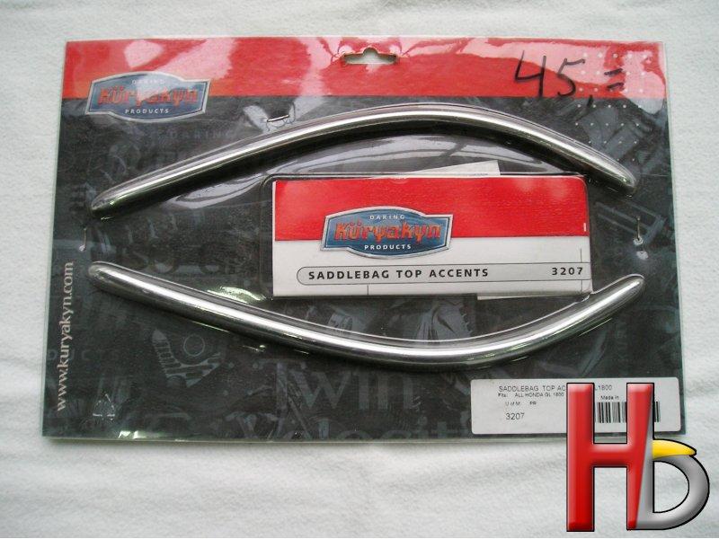 Chrome saddlebag top accent Goldwing GL1800