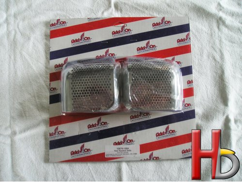 Chromen achterspeaker covers Goldwing GL1500