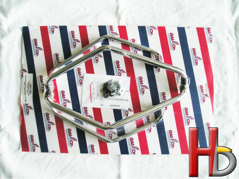Chrome saddlebag door rails Goldwing GL1500