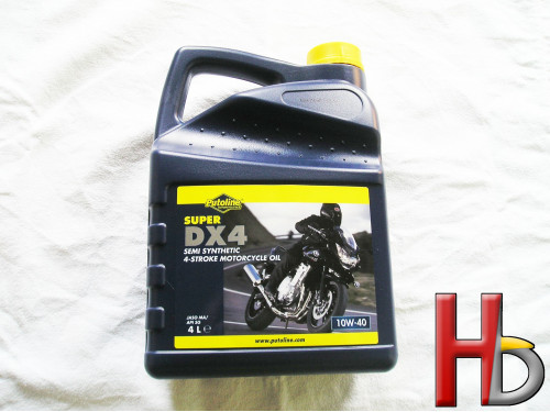 Super DX4 10W-40 motor oil....