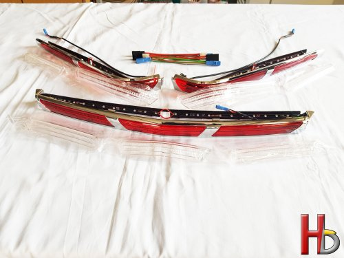 Chromen strips met LED topkoffer GL1800